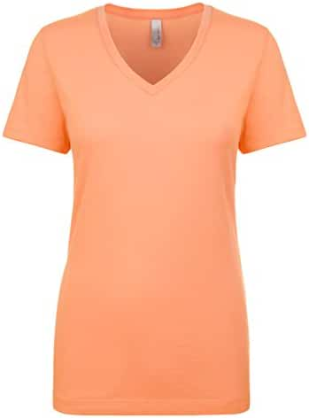Next Level Women's Lightweight V-Neck Jersey T-Shirt