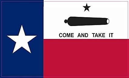 Amazon.com: StickerTalk Come and Take It Texas Flag Vinyl Sticker ...