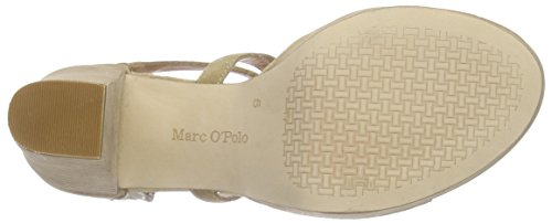 Plateau Sandales O'polo Marc Beige Heel High Sandal 130 Femme beige qwSqCnxgv