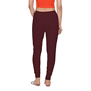HIRSHITA Women's 100% Cotton Churidar Leggings |Deep Maroon|