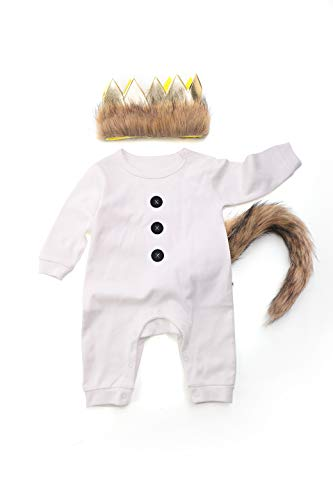 Where The Wild Things are Costume Wild One Birthday Boy Outfit Wild One Long Sleeve Romper Party]()
