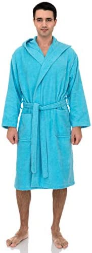 TowelSelections Men's Hooded Robe, Turkish Cotton Terry Cloth Bathrobe
