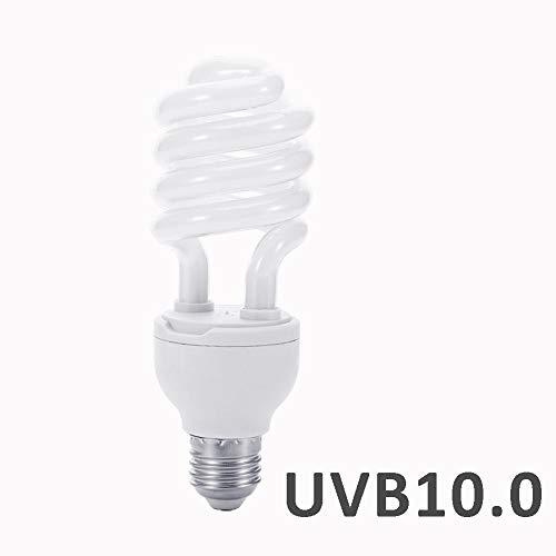 Sundlight Reptile Bulb, E27 UVB 5.0/10.0 Fluorescent Desert Tropical Terrarium 26W UV Lamp Calcium Lamp for Reptile Tortoise