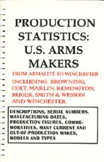 Production Statistics: U.S. Arms Makers from Armalite to Winchester, Including: Browning, Colt, Marlin, Remington, Ruger, Smith & Wesson and Winchester