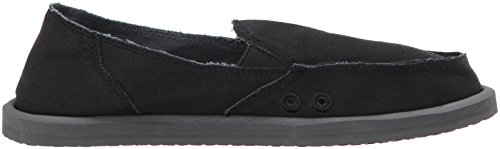 Black Daily on Women's Sanuk Slip Donna Loafer BnwwFap