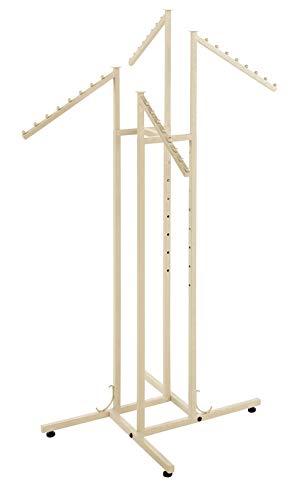 (SSWBasics 4 Way Clothing Rack - Boutique Ivory - Slant Arms)