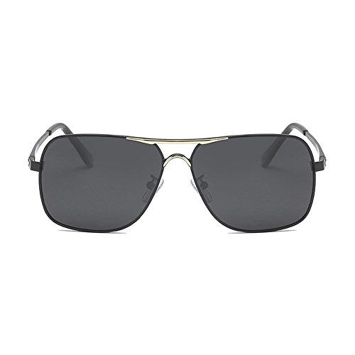 hombres de de visión hombre Aviator Negro de negra lente día conducción polarizadas Gafas para con para estuche aleación Eyewear sol Gafas de de de YwvxRPP