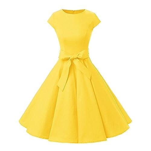 Yellow Prom Dresses Retro