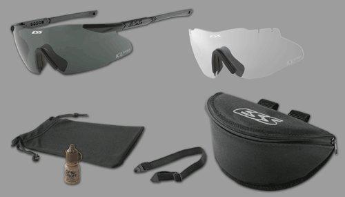 ESS Ice 2 Naro Eyeshields Ice-2 Mil-Spec Sunglass Unit Issue Sunglasses with Carry - Ice Sunglasses Ess