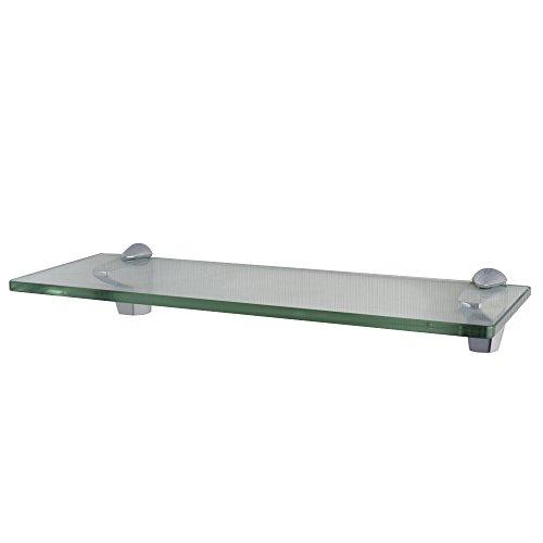 XVL 14-Inch Bathroom Glass Shelf, Chrome (Chrome Bathroom Glass Shelf)