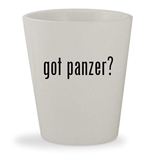 got panzer? - White Ceramic 1.5oz Shot Glass