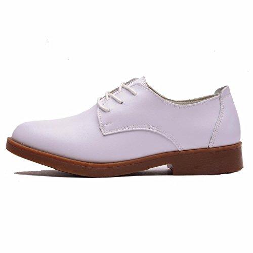 Lacets en à Chaussures Derbies Moonwalker Femme Blanc Cuir AqpBwIOfx