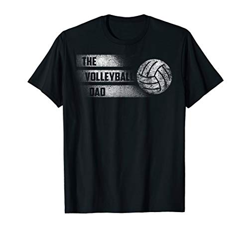 (The Volleyball Dad Distressed Shirt Father's Day Gift)