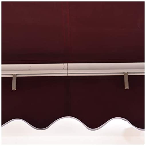 Garden and Outdoor MCombo 13×8 Feet Manual Retractable Patio Door Window Awning Sunshade Shelter Outdoor Canopy (Burgundy) patio awnings