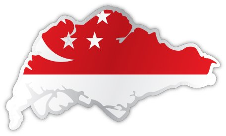 Amazon com singapore map flag sticker decal 5 x 3 automotive