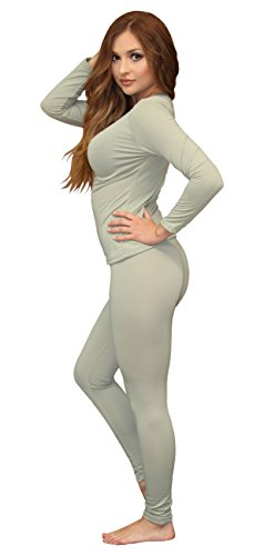 Women's Soft 100% Cotton Waffle Thermal Underwear Long Johns Sets (2XL, PH Green)