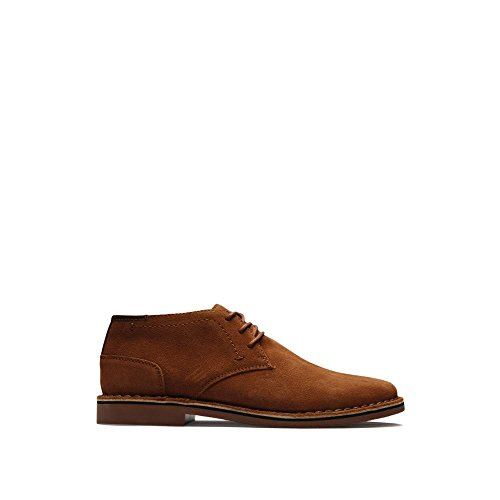 Rust Suede Boot - Kenneth Cole REACTION Men's Desert Sun SU Chukka Boot, Rust/Rust Suede, 10 M US
