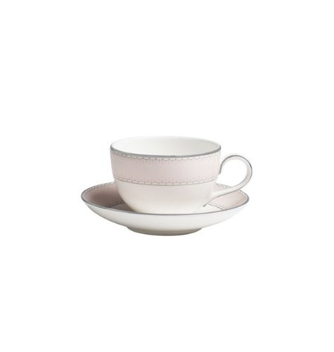 Waterford China Espresso Cups - Dentelle Blush 7.4 oz. Teacup