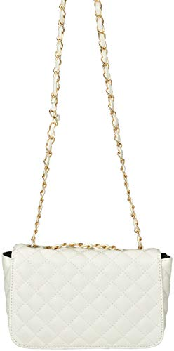 White Diamond Body Faux Cross Bag Harbor with Pattern Sag Stitching Leather Casual PxU4nqR