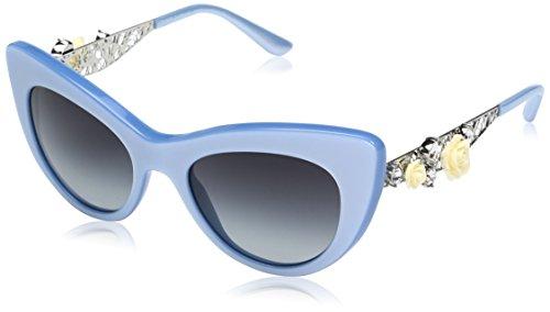 Dolce & Gabbana Women's Acetate Woman Sunglass Cateye, PEARL AZURE, 50.0 ()