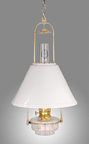 B&P Lamp Aladdin Brand Deluxe Glass Hanging Lamp by B&P Lamp
