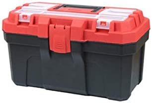 CHUNSHENN ツールボックス 工具箱 適するのホームアウトドア修復ツールストレージボックス、多機能プラスチック16インチ(カラー:レッド、サイズ:36 * 17 * 20.5センチメートル)