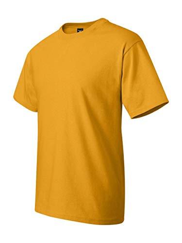 Hanes Men's Short Sleeve Crewneck Beefy T-Shirt, GOLD, XXX-Large ()