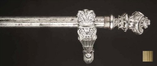 WinarT USA 8.1184.45.09.280 Palas 1184 Curtain Rod Set - 1.75 in. - Antique Bronze - 110 in.   B00DP4L6DS