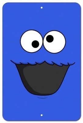 Cookie Monster Metal 8x12 Poster imPrint