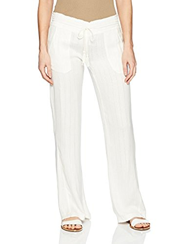 - Roxy Women's Oceanside Dobby Beach Pants Marshmallow M & Sunlotion Bundle