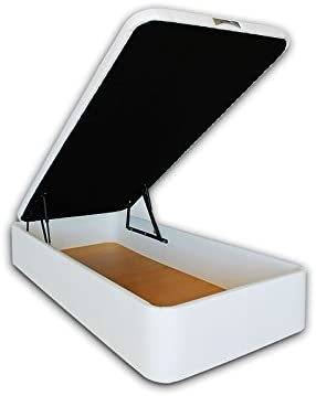 Ventadecolchones Canapé Abatible Serena Gran Capacidad Tapizado En Polipiel Blanco Medidas 90 X 190 Cm En Tejido 3d Amazon Es Juguetes Y Juegos