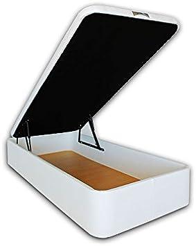 Ventadecolchones - Canapé Abatible Serena Gran Capacidad Tapizado en Polipiel Blanco Medidas 105 x 190 cm en Tejido 3D