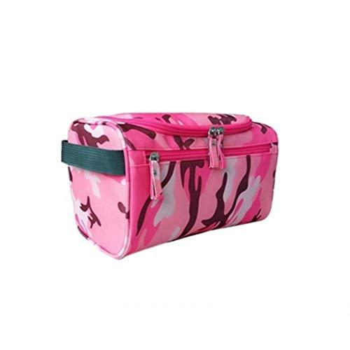 - Fashion waterproof men's cosmetic bag nylon travel organizer make-up lady large necessities cosmetics toilet bag (Camouflage Pink)