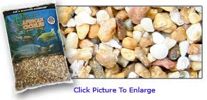 Pure Water Pebbles African Cichlid Substrate Malawi Mix 20 LB- Dry- Natural Substrate
