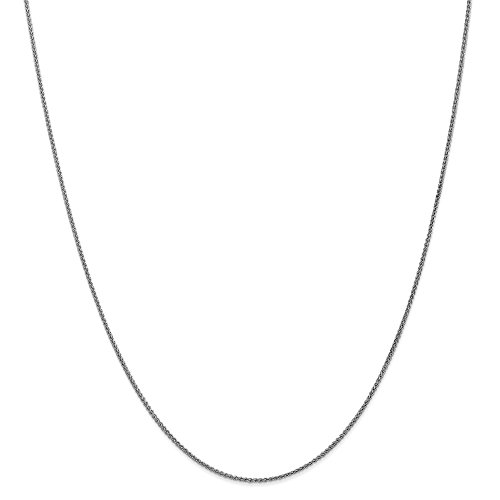 14kt White Gold 1.25mm Solid Polished Spiga Chain; 20 inch