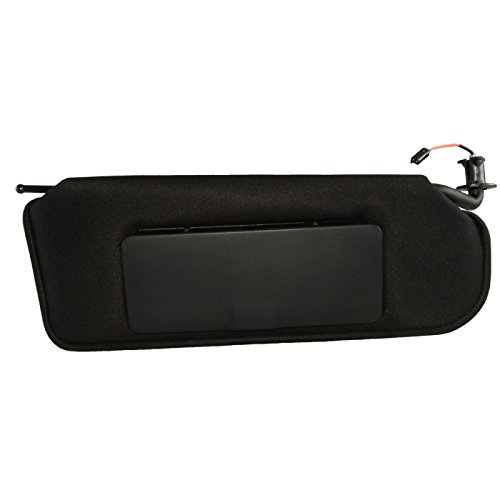 Eckler's Premier Quality Products 25-155979 - Corvette Sunvisor Right Black With Lighted Vanity Mirror