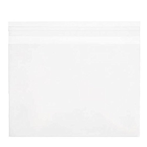 ClearBags 7 7/16 x 5 1/4 + Flap Crystal Clear Seal Top Bags with Resealable Adhesive on Flap, Not Bag | Protects Photos, Artwork, Crafts, Favors | Acid Free and Archival Safe | B5A (1 Pack of 100)