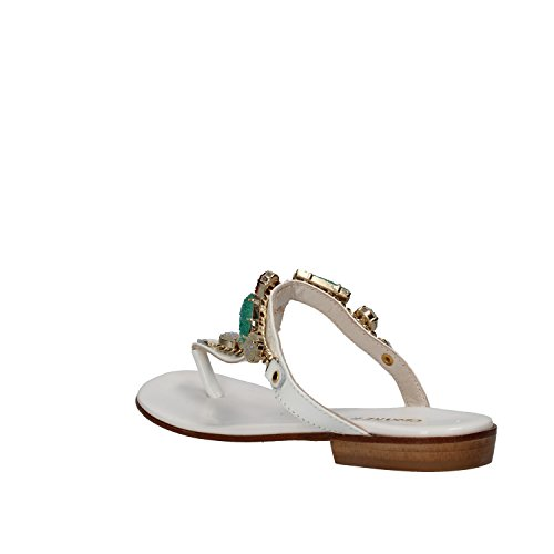 Patent US CESARE 38 Leather EU 8 White Sandals Woman PACIOTTI CqYwxWrqtZ