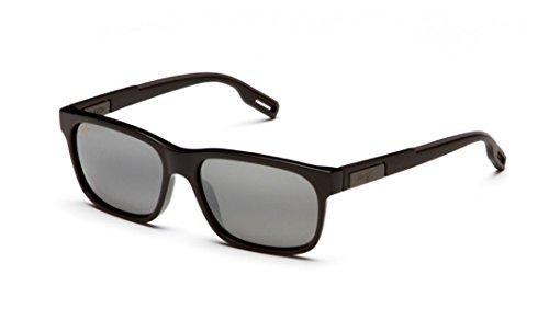 Maui Jim Eh Brah 284-02 | Polarized Gloss Black Rectangular Frame Sunglasses, Neutral Grey Lenses, with Patented PolarizedPlus2 Lens Technology