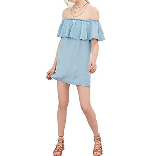 Dress summer Denim Dimensione Skirt Oudan Fashion colore M Blu Lady skirt 5qxfw4Aa