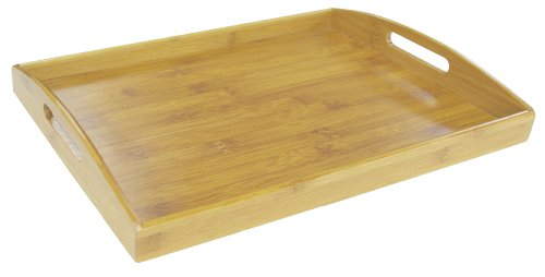 - Home Basics ST01034 Serving Tray, Bamboo