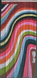 ABeadedCurtain 125 String Color Art Waves Beaded Curtain 38 More Strands Handmade with 4000 Beads Hanging Hardware