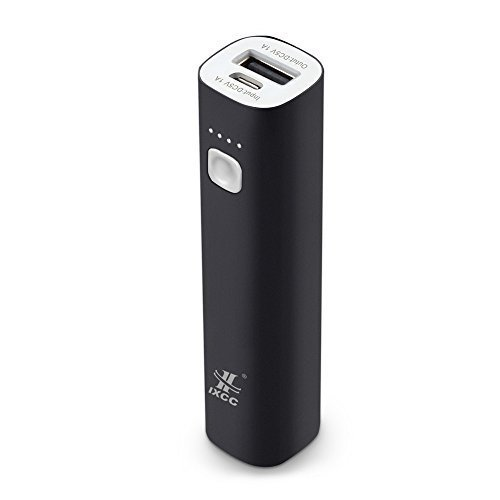 iXCC 3400mAH potential Bank - miniature convenient External Battery Charger for Apple iPhone, iPod, Samsung, HTC One, Fire Phone, Google Nexus and more - Black
