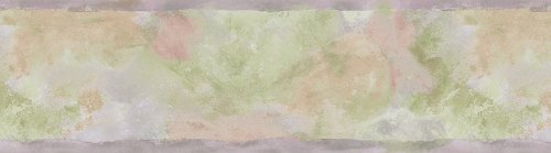 Brewster 418B170 Borders and More Abstract Brushstroke Wall Border, 6.825-Inch by 180-Inch, Pink/Purple