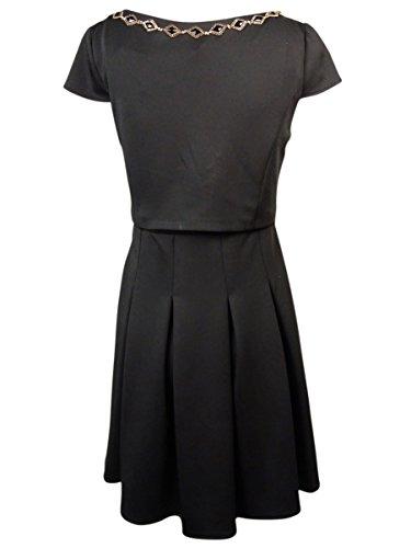 Embellished Over Cap Pop Women's Sleeve Black Dress Betsey Johnson nZ4IxE