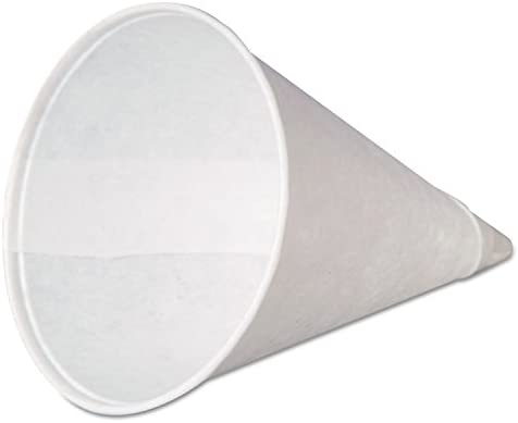 5000 CASE Drinking Water Cup 4 Oz White Paper Disposable Snow Cone Rolled Rim