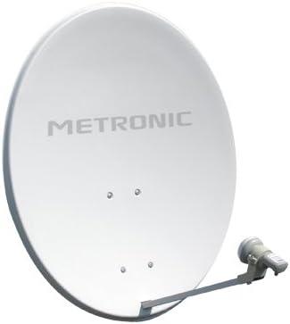 Metronic Athena - Antena parabólica (acero blanco, 120 cm ...