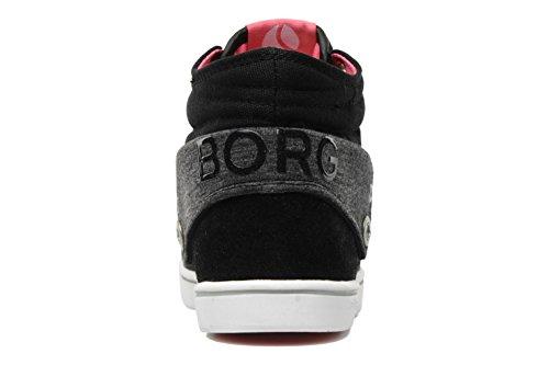 Björn Borg Lloyd Fld Cvs Canvas Chaussures de Femme Boots Noir Gr 38 ySePKf06