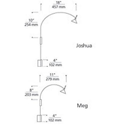 Tech lighting 700joscpb joshua picture light 7 65 x 19 55