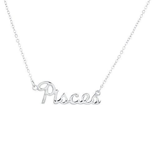 Lux Accessories Horoscope Zodiac Sign Pisces Silvertone Necklace
